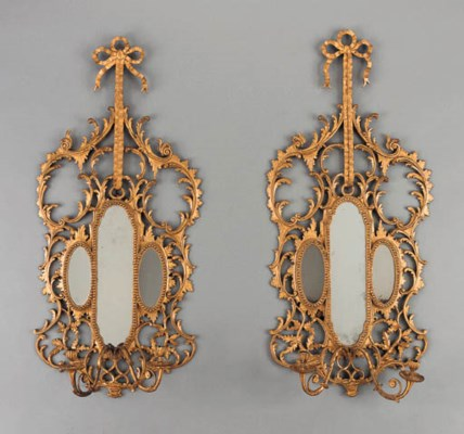 A PAIR OF VICTORIAN GILTWOOD T