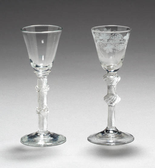 TWO AIRTWIST WINE GLASSES