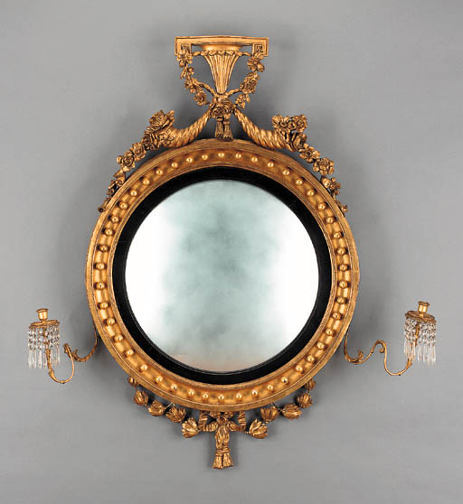 A REGENCY EBONIZED, GILTWOOD,