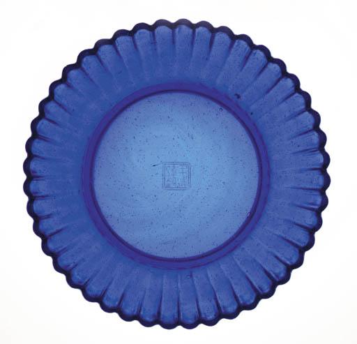 A Rare Transparent Blue Glass