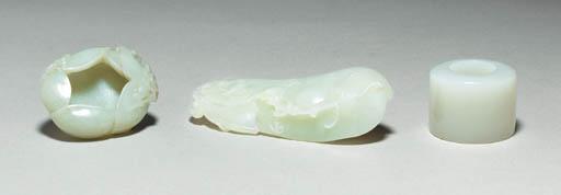 Three Small White Jade Carving