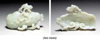 A White Jade Lingzhi Brushwash