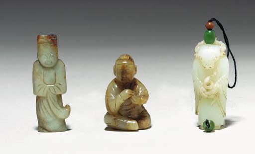 Three Small Jade Figures