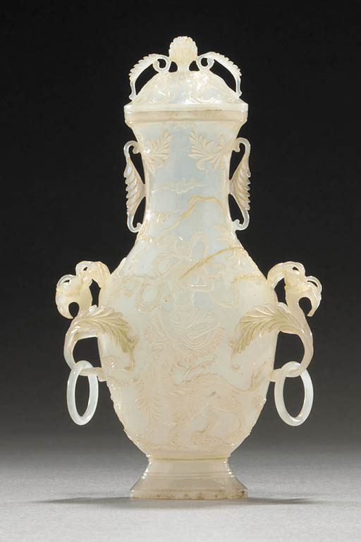 A Small Mughal Style White Jad