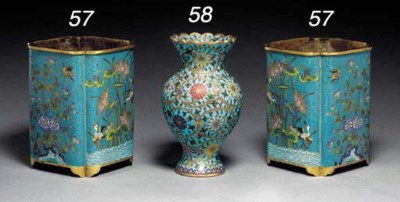 A Pair of Small Cloisonné Enam