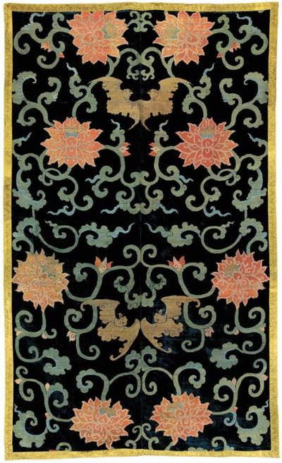 A Cut Silk Velvet Panel