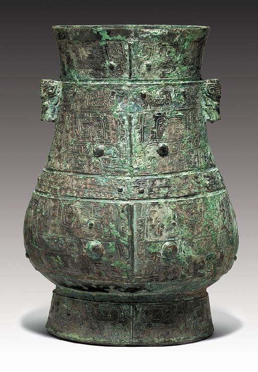 A Large Finely Cast Bronze Rit