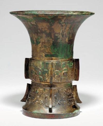 An Archaistic Bronze Ritual Ve