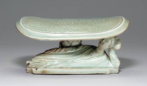 A Rare Qingbai Carved Figural