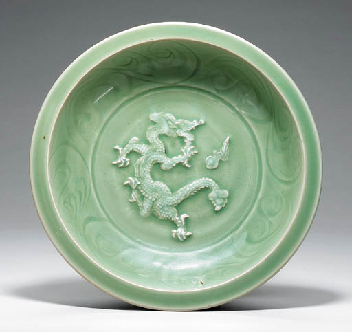A Carved Celadon Dish