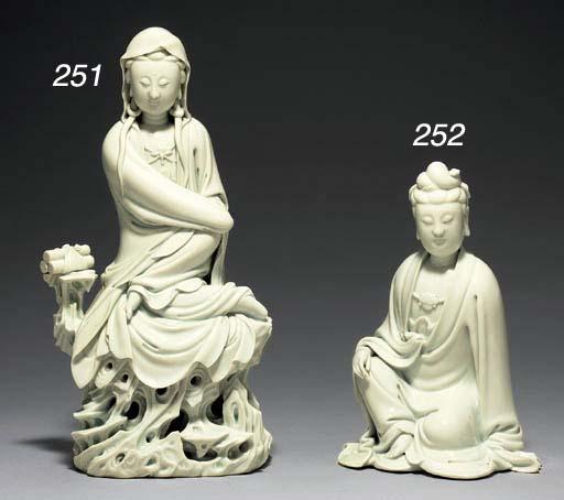 A Blanc de Chine Figure of Gua