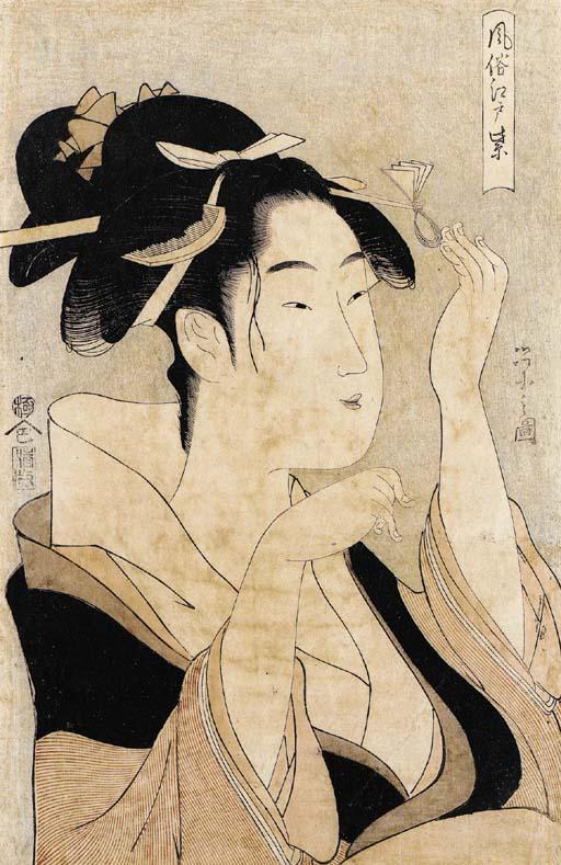Kitagawa Utamaro (1754-1806) Chobunsai Eishi (1756-1829) Tamagawa Shucho (fl.ca.1790s-early 1800s)