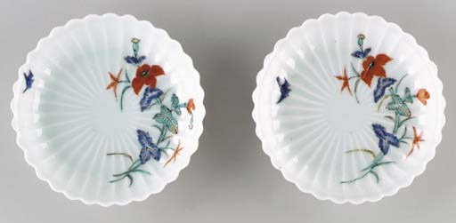 A Pair of Porcelain Fluted Dis