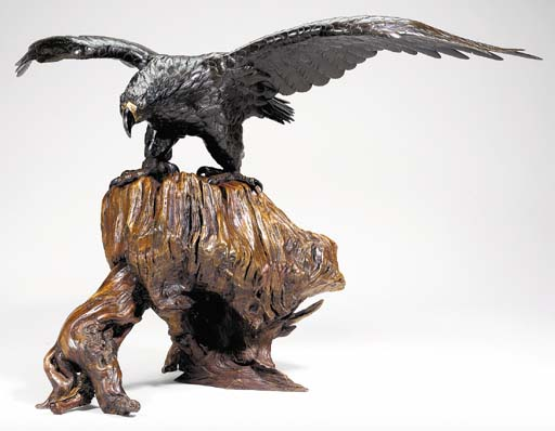 A Bronze Model of an Eagle