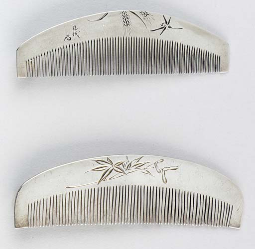 Two Silver Combs