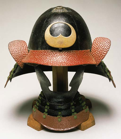 A Round Bowl Helmet with Stand