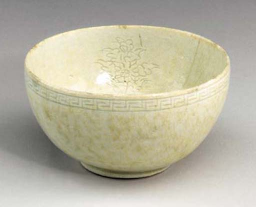 An Incised Porcelain Cup
