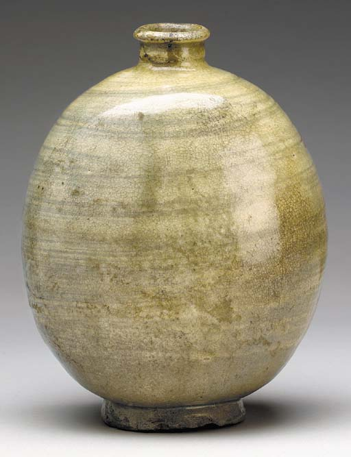 A Punch'ong Stoneware Flask