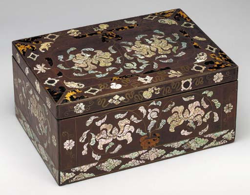 An Inlaid and Lacquered-Wood B
