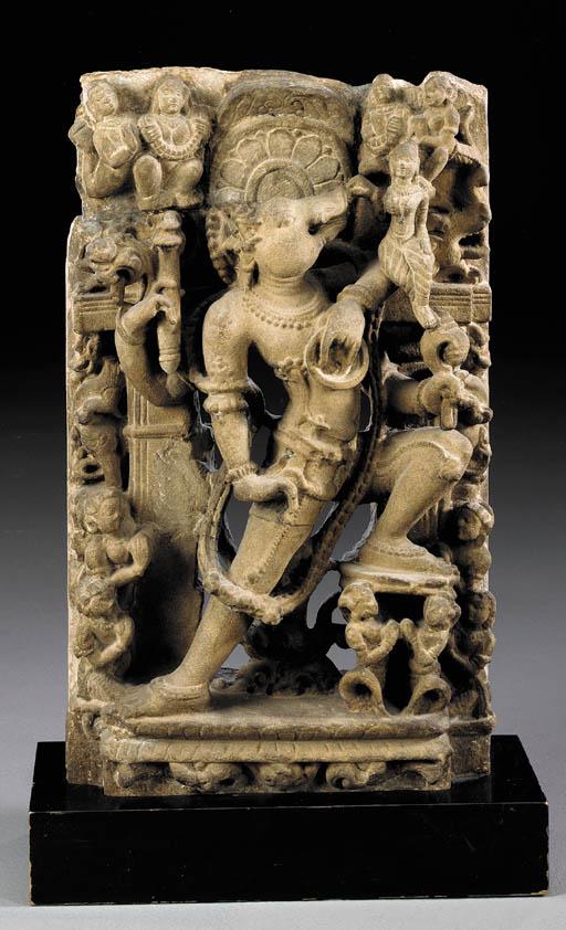 A Sandstone Figure of Vishnu i
