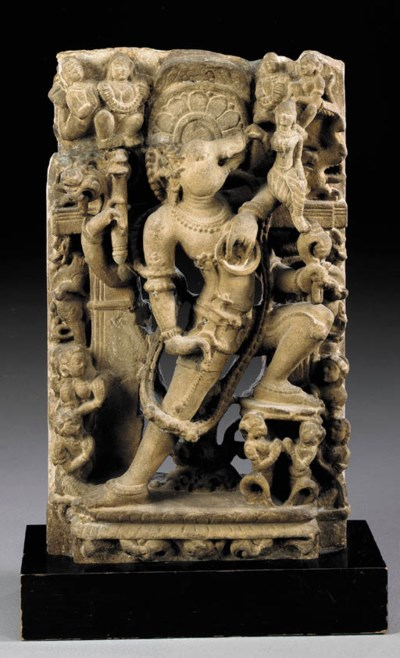 A Sandstone Figure of Vishnu i