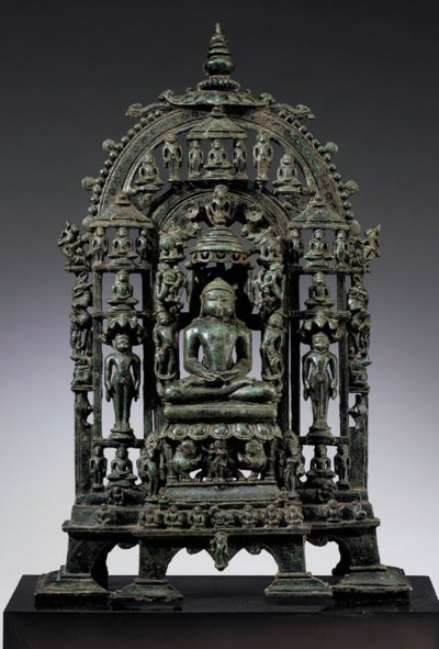A Bronze Jain Shrine