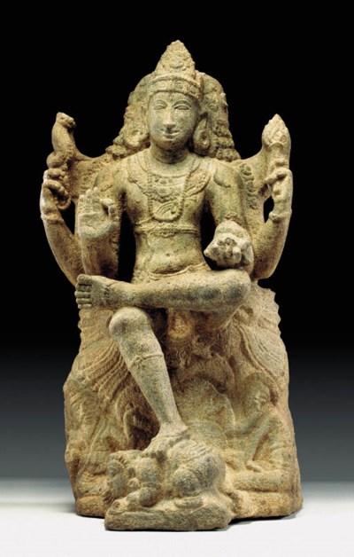 A Granite Figure of Shiva as t