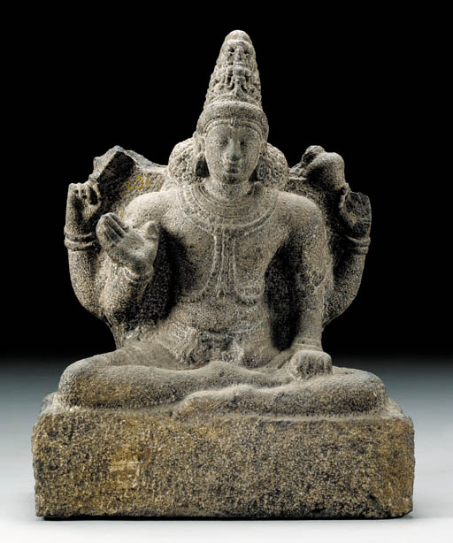 A Granite Figure of Vishnu