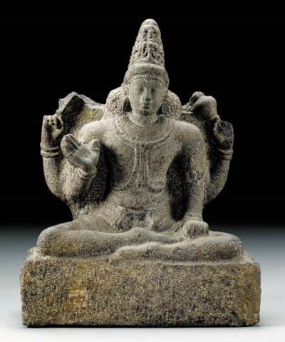 A Granite Figure of Vishnu