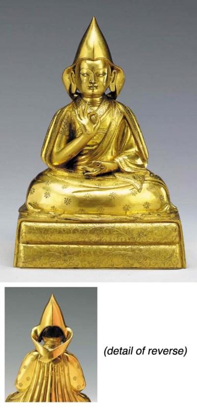 A Gilt Bronze Figure of a Gelu