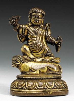 A Gilt Bronze Figure of Dorje