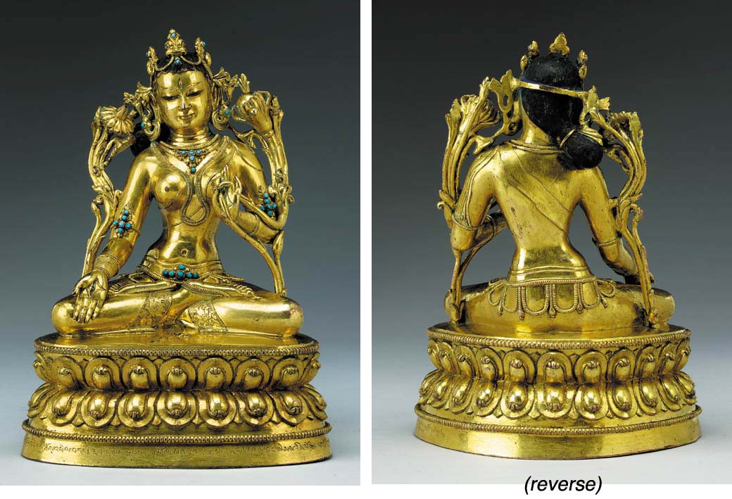 A Gilt Bronze Figure of White