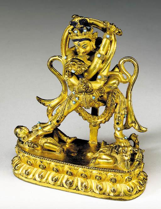 A Gilt Bronze Figure of Chakra