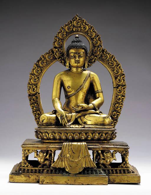 A Gilt Bronze Altar Piece