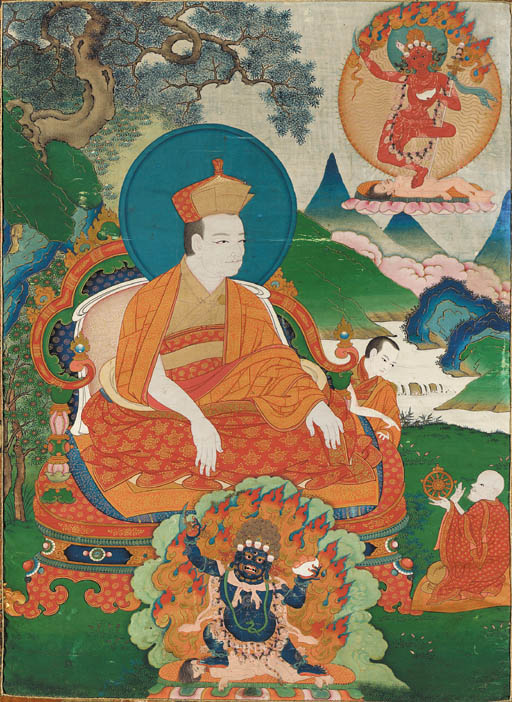 A Thangka of Jetsun Dharma Wan