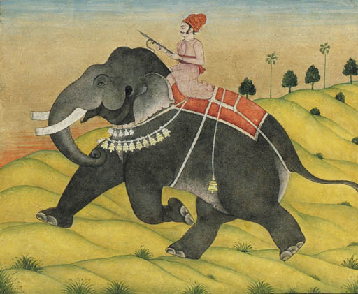 A Mahout Riding Upon an Elepha