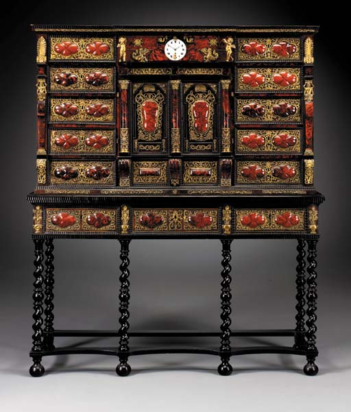 A FLEMISH BAROQUE GILT REPOUSS