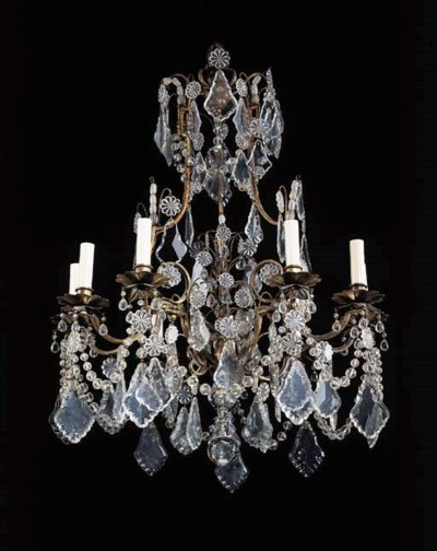 A LOUIS XV STYLE ROCK CRYSTAL,