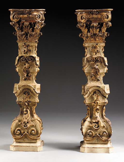 A PAIR OF GERMAN BAROQUE PARCE