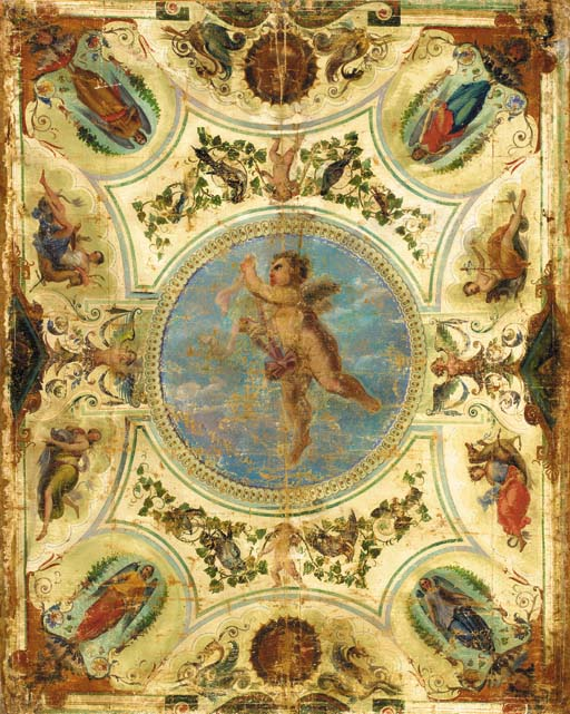 AN ITALIAN NEOCLASSIC PAINTED