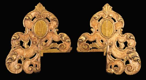 A PAIR OF ITALIAN BAROQUE POLY