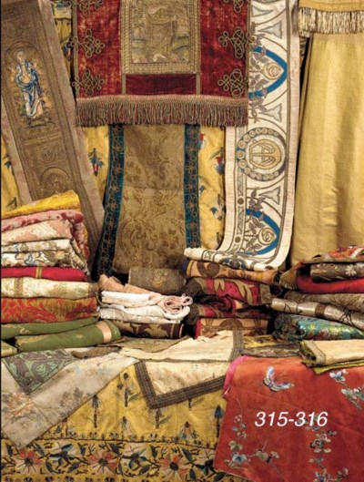 A GROUP OF 17 TEXTILES INCLUDI