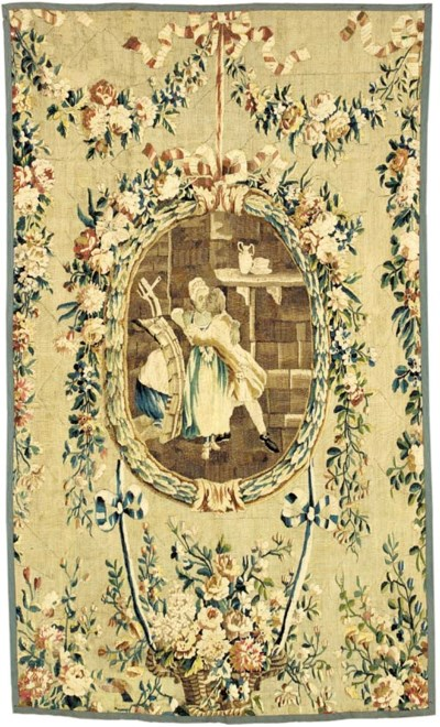 A LOUIS XVI AUBUSSON TAPESTRY