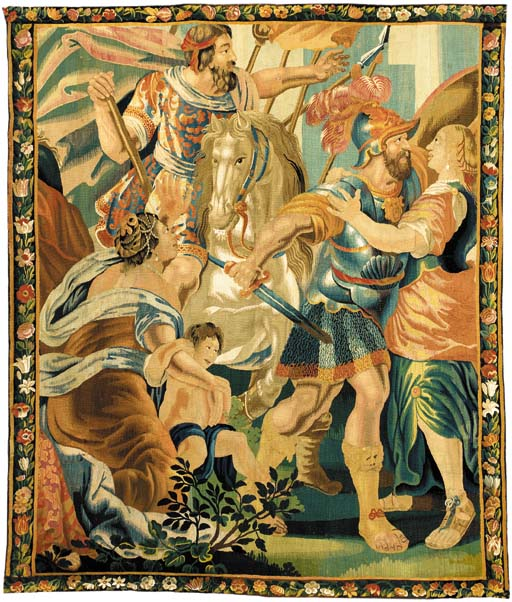 AN AUBUSSON HISTORICAL TAPESTRY