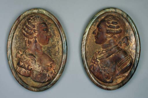 A PAIR OF LOUIS XVI MARBELIZED