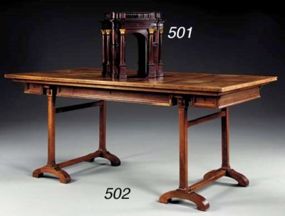 A FRENCH WALNUT AND PARQUETRY