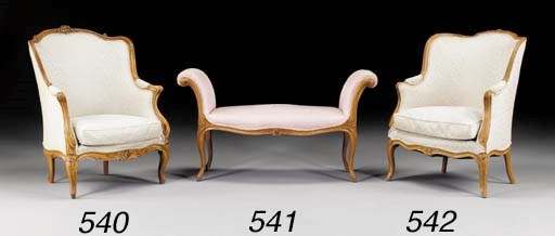 A LOUIS XV BEECHWOOD BANQUETTE