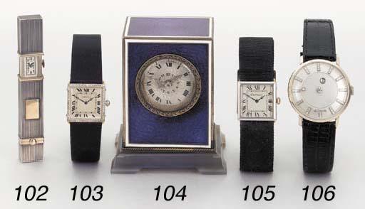 Cartier. A fine platinum, 18K