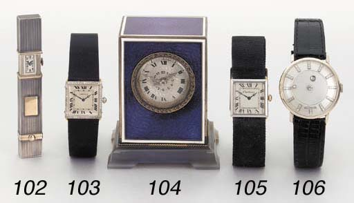 Cartier. A platinum and gold s