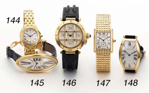 Cartier. An 18K gold rectangul